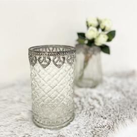 当店人気No.2 !リーフ調の飾りがエレガントなガラス花器🌿