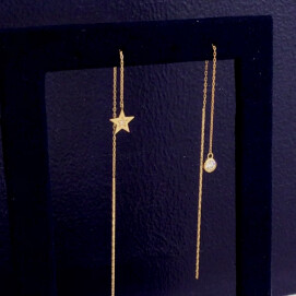 Wish upon a star片耳ピアス