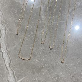 【K18】ダイヤモンドネックレス
