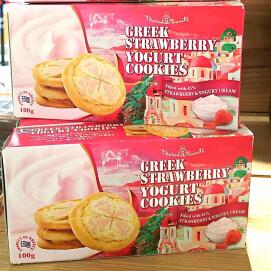 当店おすすめ!ギリシャの大きめザックリヨーグルトクッキーです!
