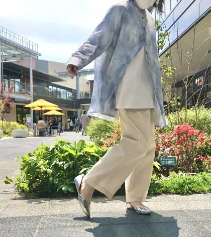 ★タイダイ柄シアーシャツ★