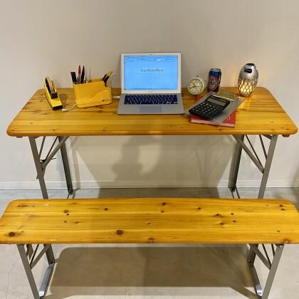 テレワークなどにも便利なビアテーブル&ベンチ!