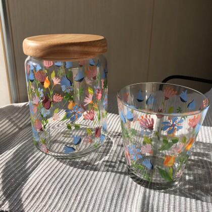 ❋お花のガラス食器❋