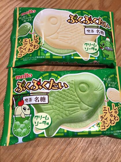 新商品🍨ぷくぷくたいクリームソーダ味🍒